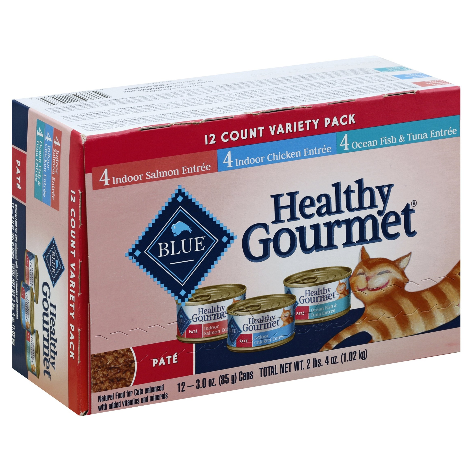 slide 1 of 2, Blue Buffalo Healthy Gourmet Adult Pate (Variety Pack) - Wet Cat Food,
