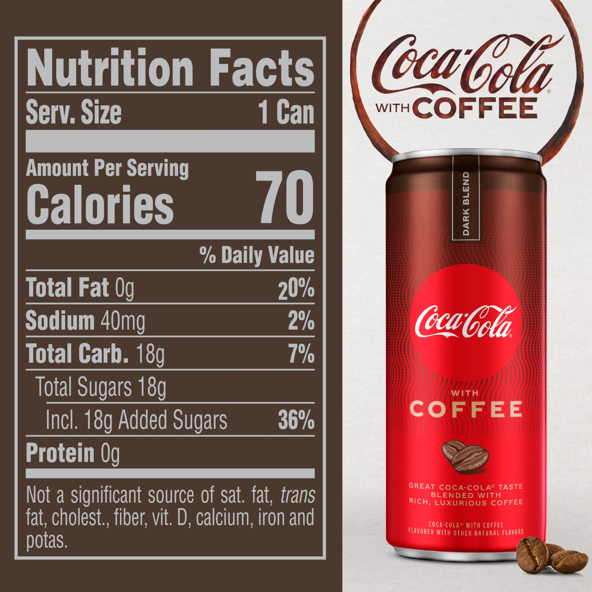slide 9 of 13, Coca-Cola With Coffee Dark Blend,