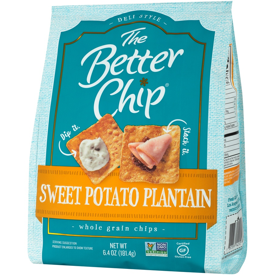 slide 3 of 8, The Better Chip Sweet Potato Plantain Whole Grain Chips,