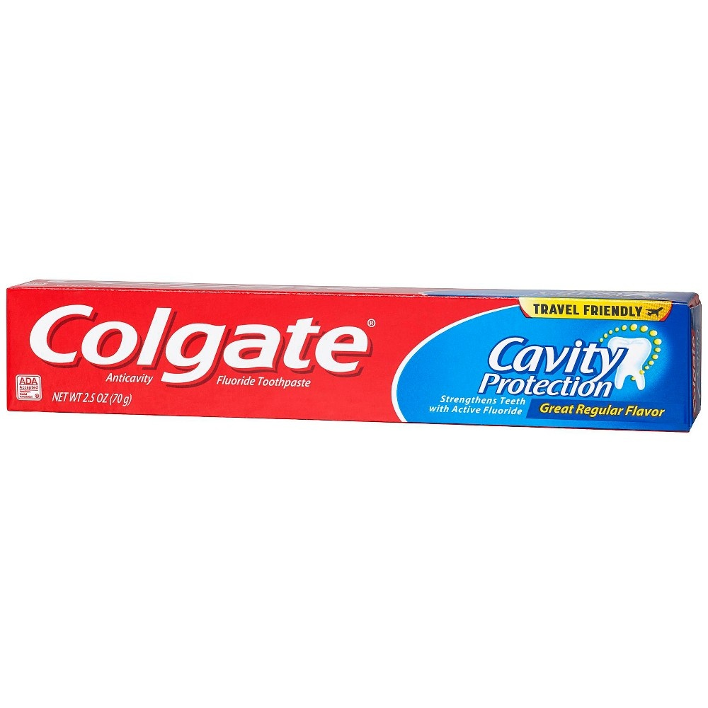 slide 3 of 4, Colgate Cavity Protection Toothpaste with Fluoride, Regular Mint Flavor,