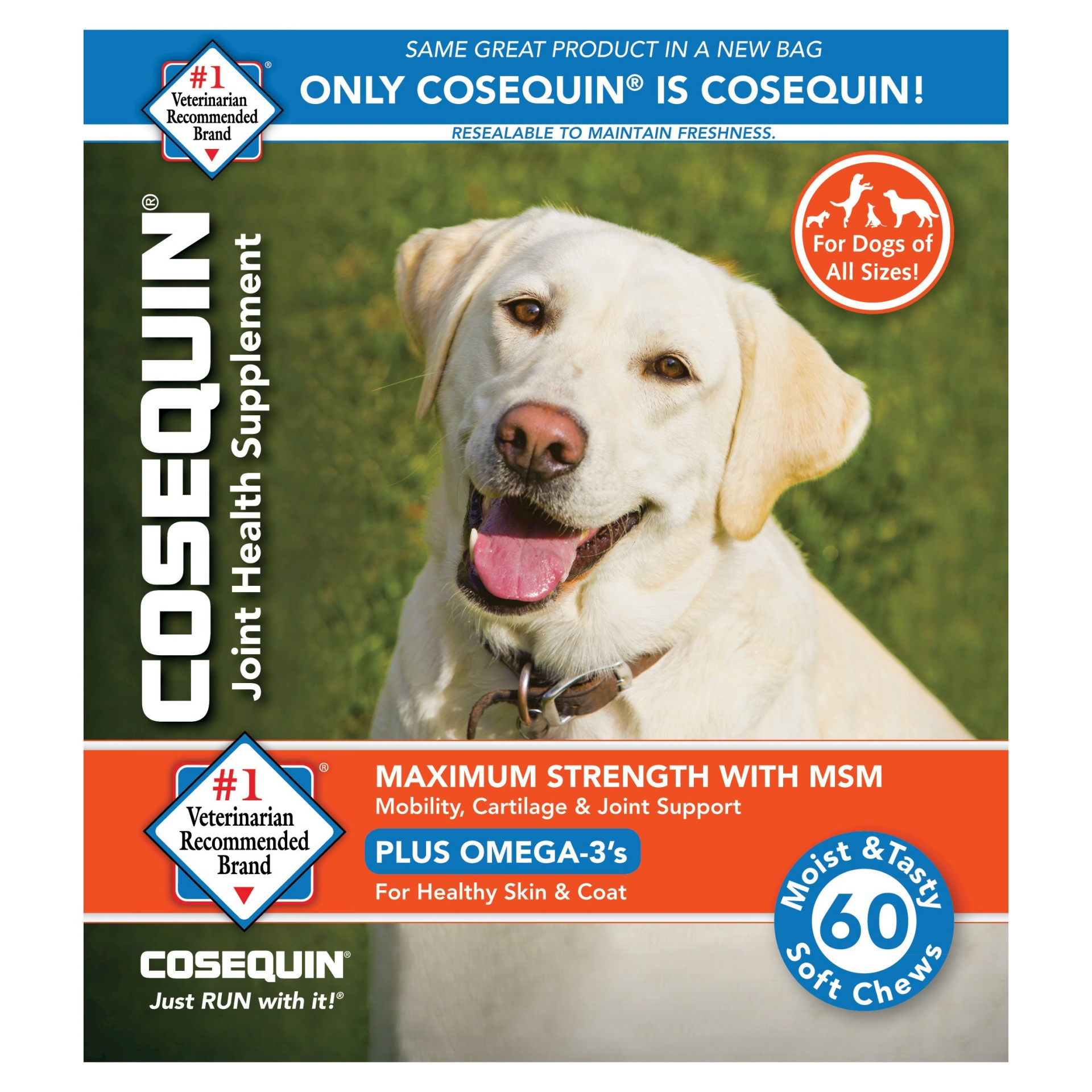 slide 1 of 1, Cosequin Glucosamine & Omega 3 Soft Chew Dog Supplements,