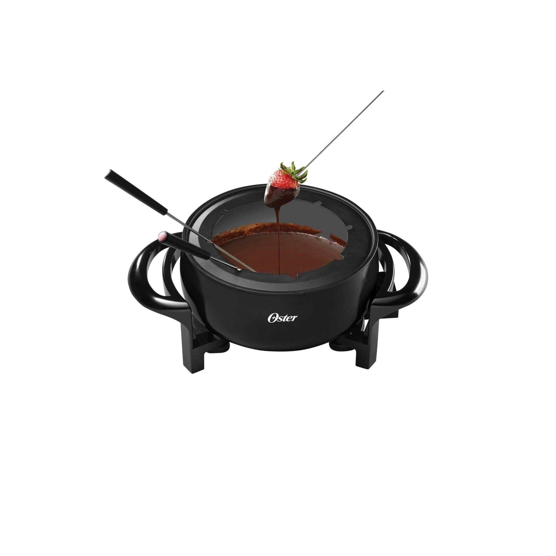 slide 1 of 3, Oster Duraceramic Fondue Pot - Red,