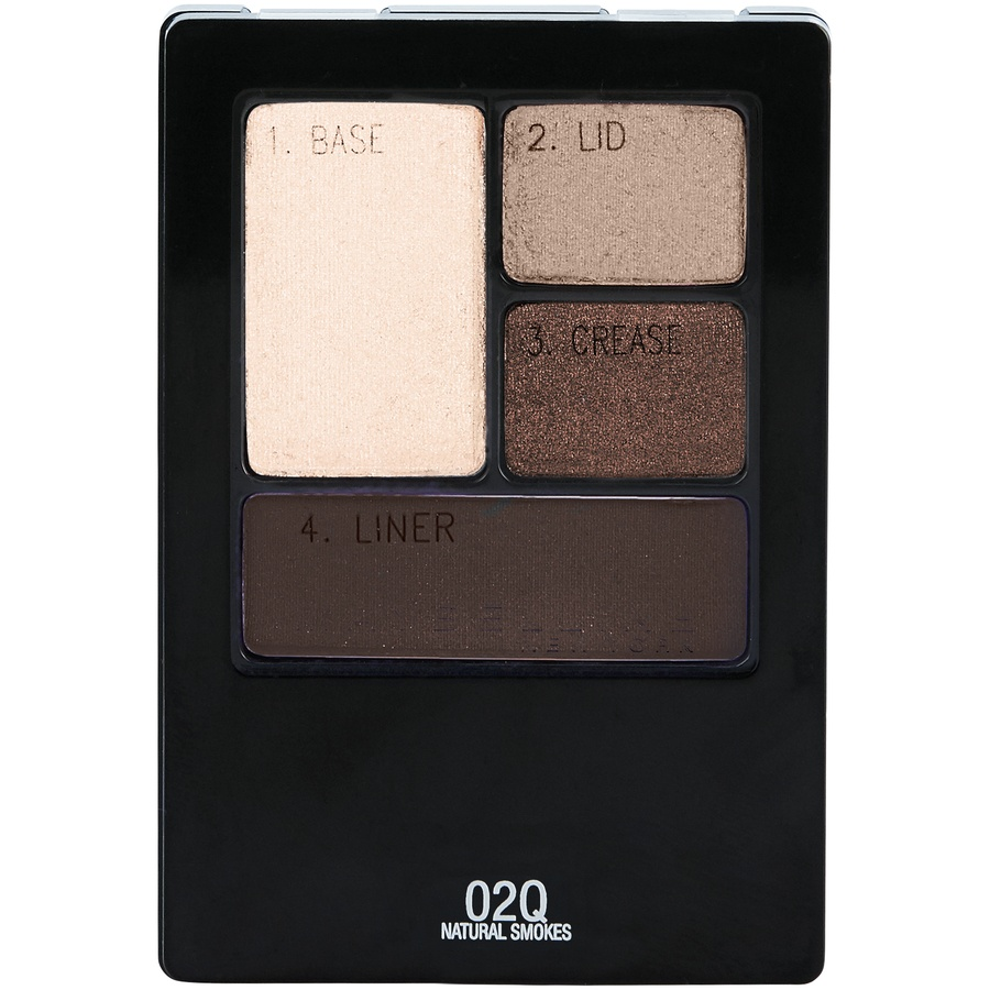 slide 1 of 1, Maybelline Expert Wear Eyeshadow Quads 02Q Natural Smokes,