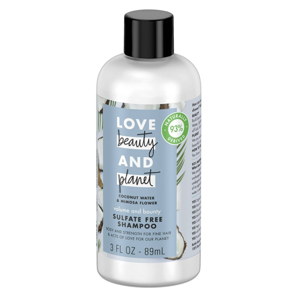 slide 3 of 6, Love Beauty and Planet Love Beauty & Planet Coconut Water & Mimosa Flower Volume and Bounty Shampoo,