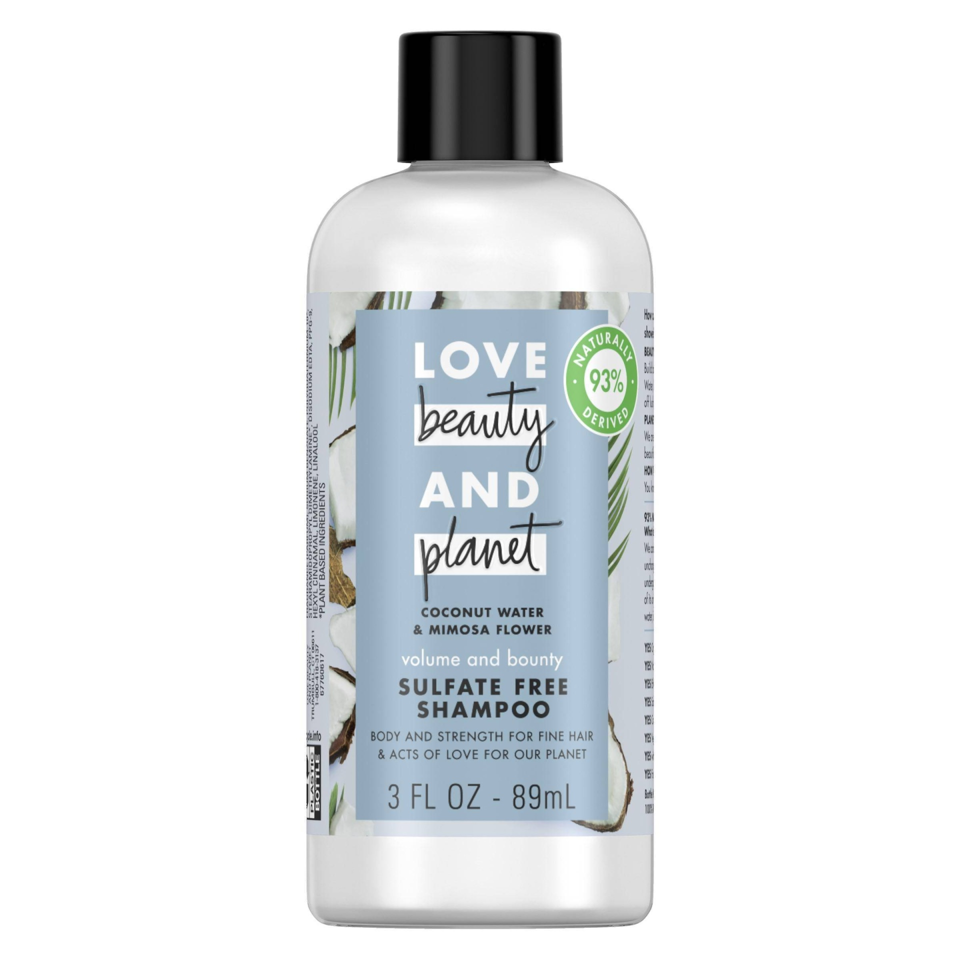 slide 1 of 6, Love Beauty and Planet Love Beauty & Planet Coconut Water & Mimosa Flower Volume and Bounty Shampoo,