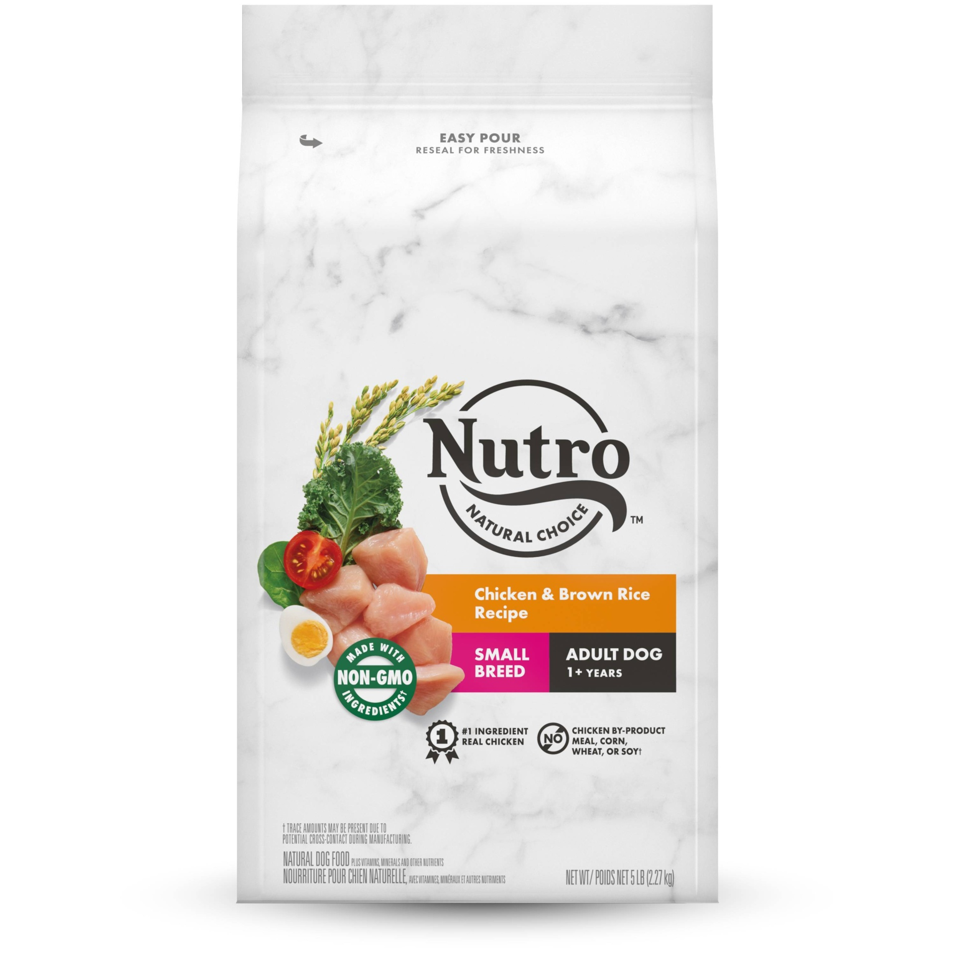 slide 1 of 5, Nutro Wholesome Essentials Farm-Raised Chicken, Brown Rice & Sweet Potato Recipe Small Breed Adult Dry Dog Food,