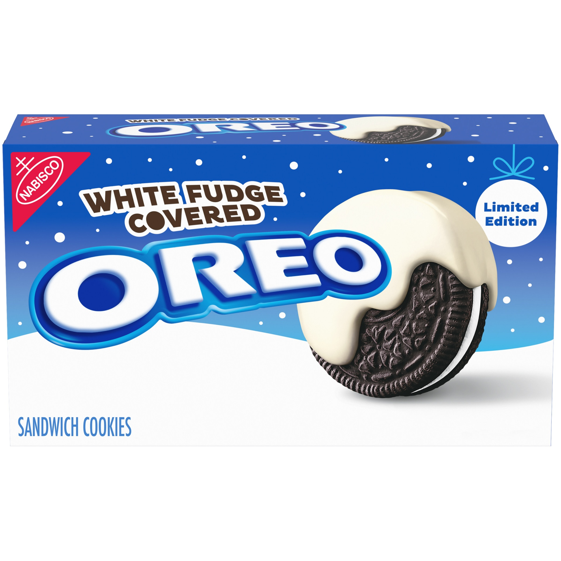 slide 1 of 7, Oreo White Fudge Covered Chocolate Sandwich Cookies,