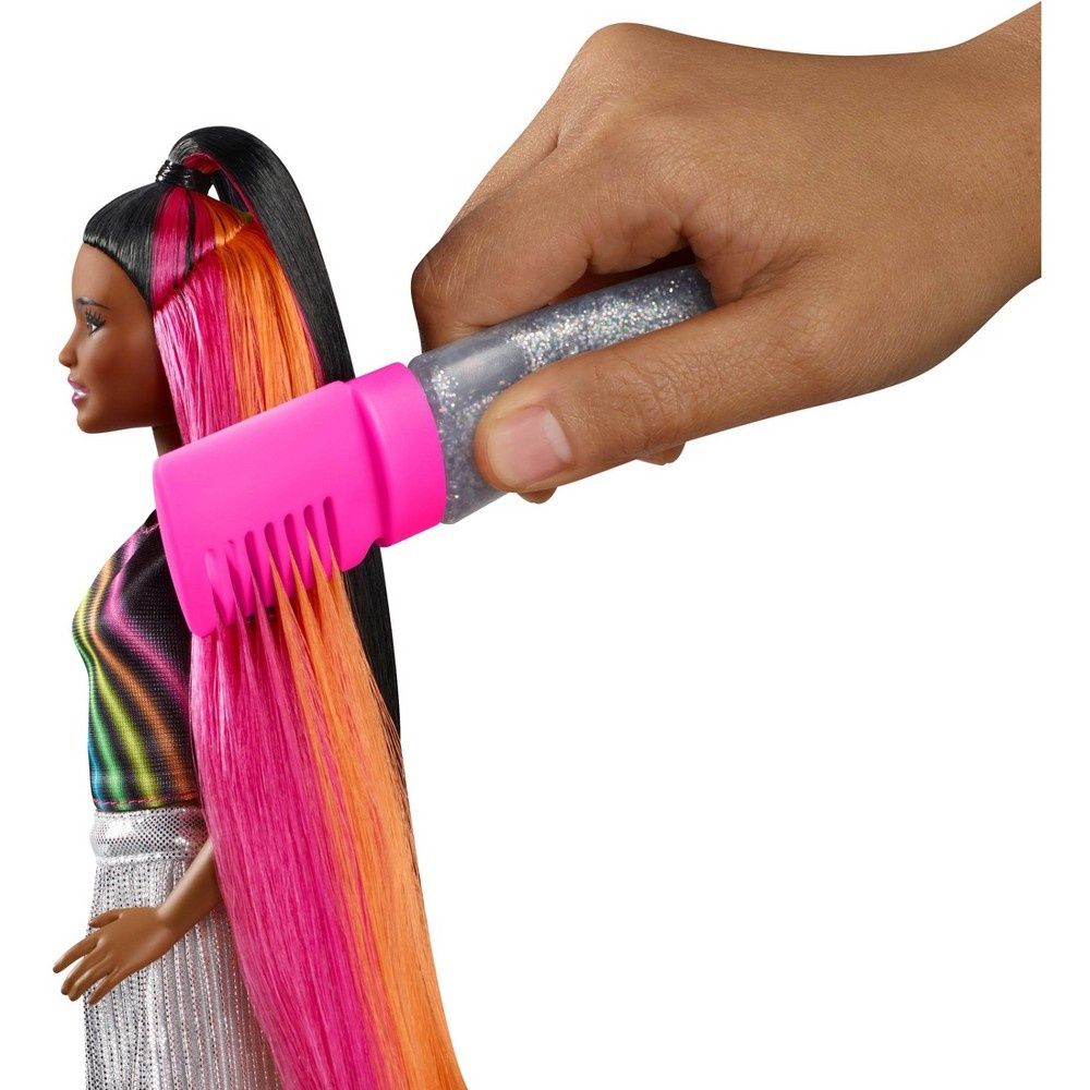 slide 2 of 16, Barbie Rainbow Sparkle Hair Nikki Doll,