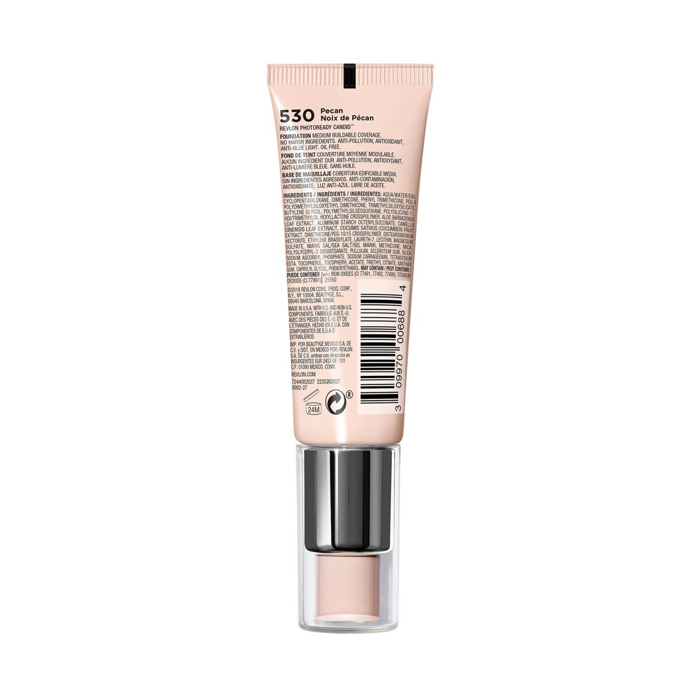 slide 4 of 5, Revlon Photoready Candid Natural Finish Anti-Pollution Foundation - Pecan,