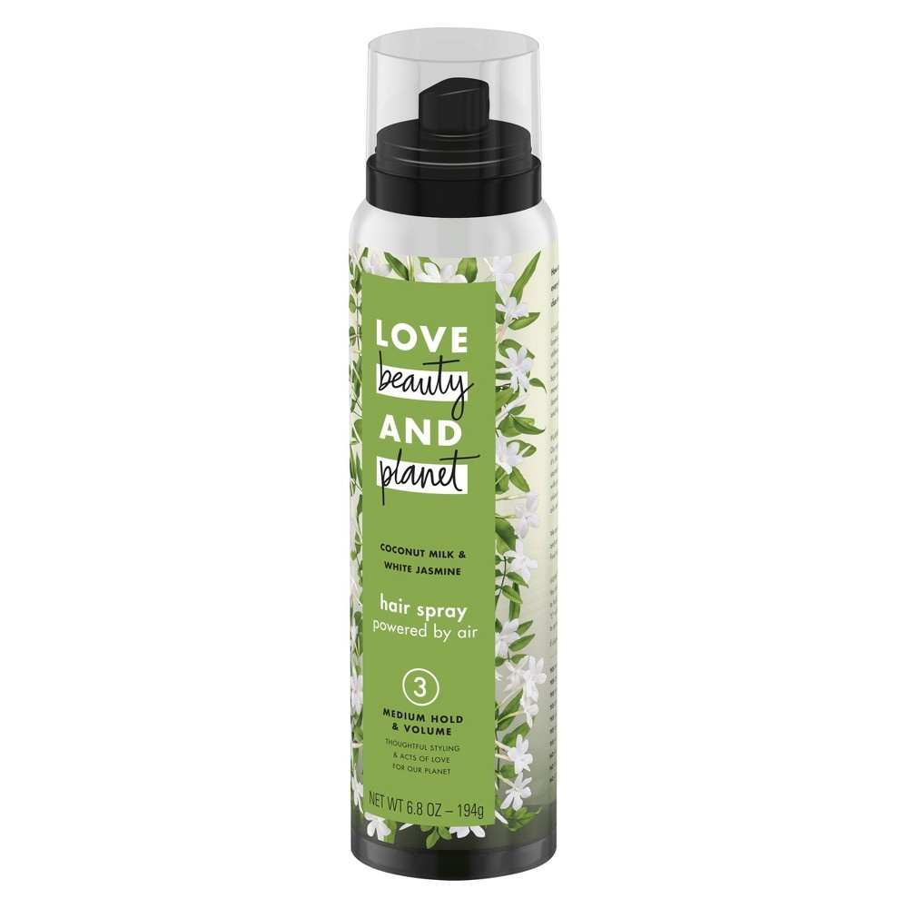 slide 3 of 6, Love Beauty and Planet Coconut Milk & White Jasmine Medium Hold & Volume Hair Spray ,