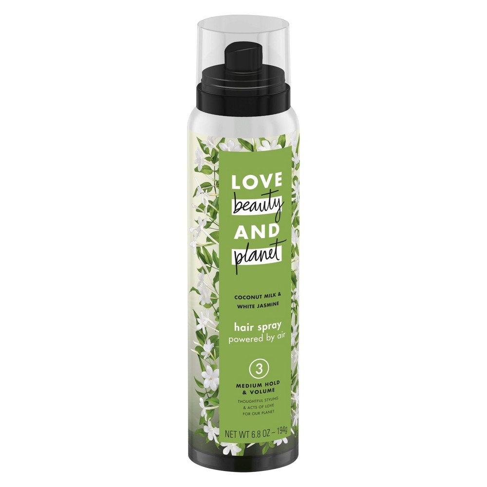 slide 6 of 6, Love Beauty and Planet Coconut Milk & White Jasmine Medium Hold & Volume Hair Spray ,