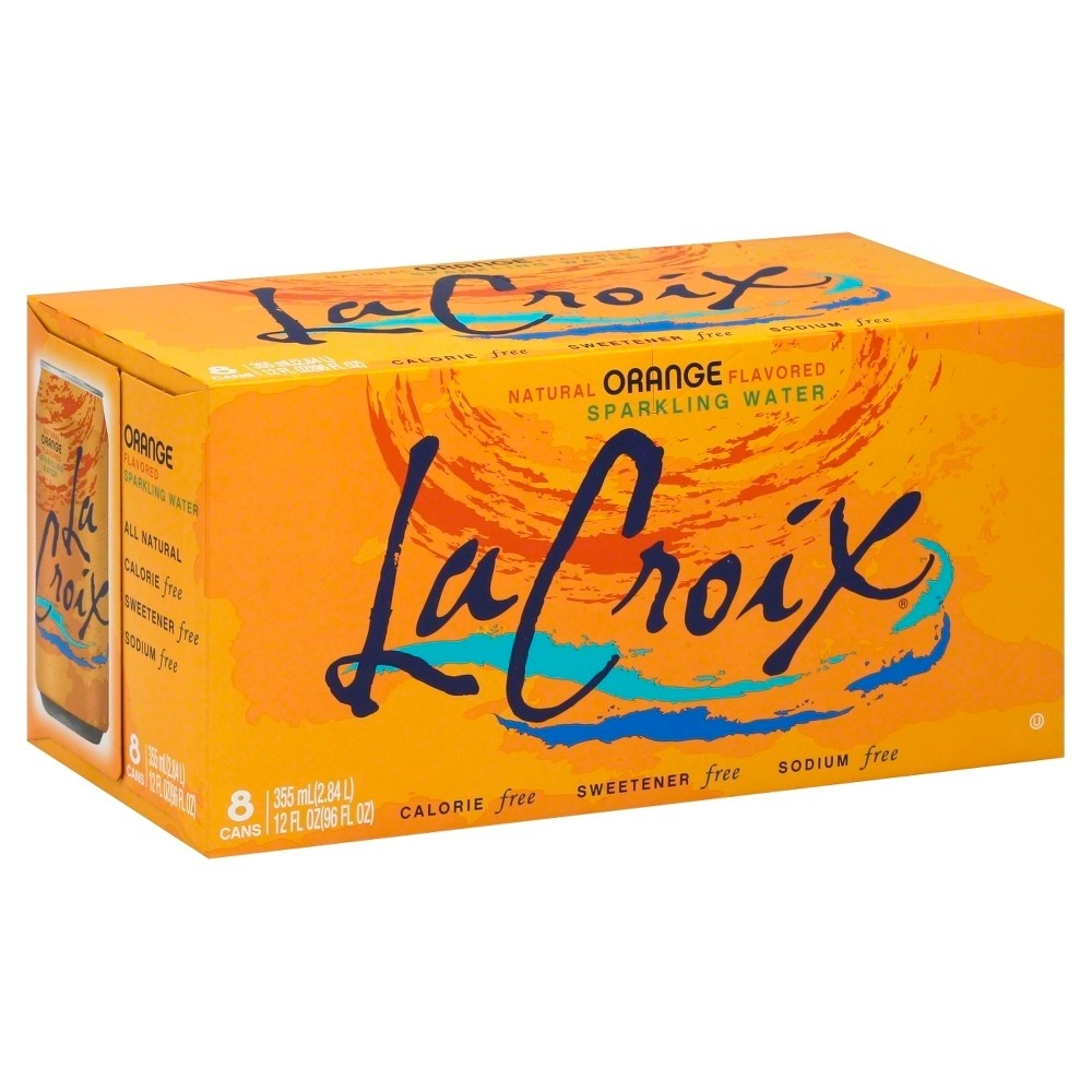 slide 6 of 6, La Croix Orange Sparkling Water,