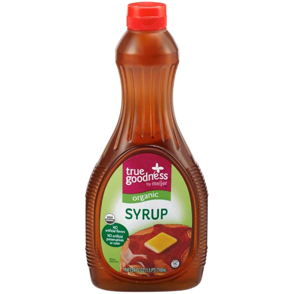 slide 1 of 2, True Goodness Organic Syrup,