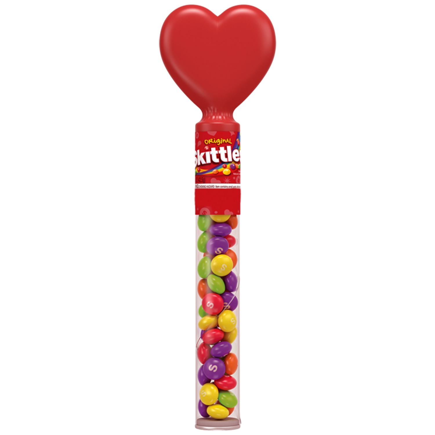 slide 1 of 1, Skittles Valentine's Heart Topper,