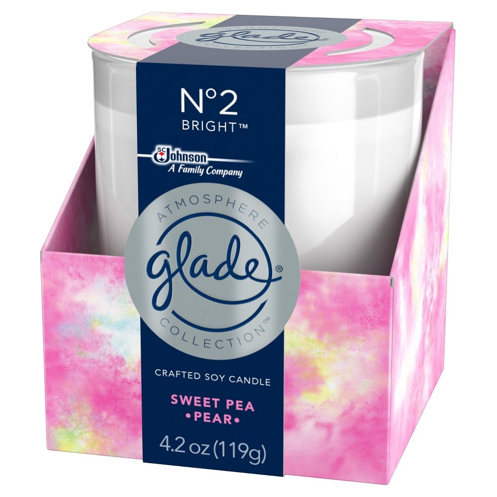 slide 2 of 5, Glade Candle No. 2 Sweet Pea & Pear,