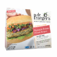 slide 1 of 1, Dr. Praeger's Gluten Free Spinach Potato Pollock Burgers,