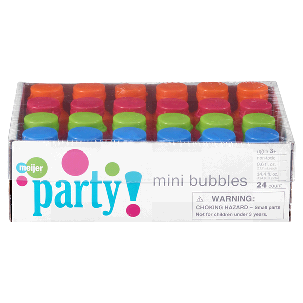 slide 1 of 2, Meijer Mini Bubbles Value Pack,