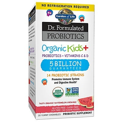 slide 1 of 1, Garden of Life Dr. Formulated Probiotics Organic Kids Watermelon Chewables,