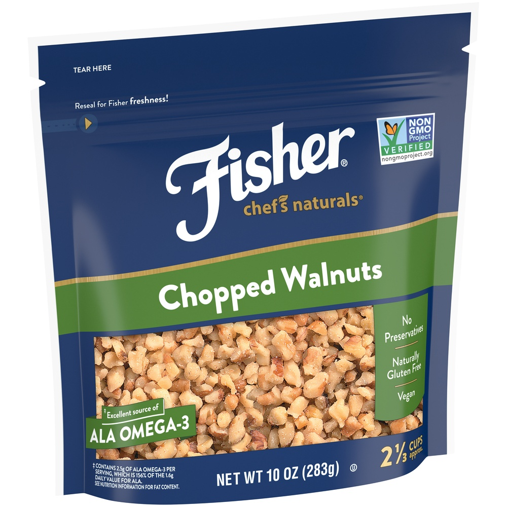 slide 2 of 9, Fisher Chef's Naturals Chopped Walnuts,
