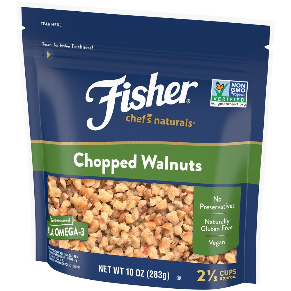 slide 3 of 9, Fisher Chef's Naturals Chopped Walnuts,