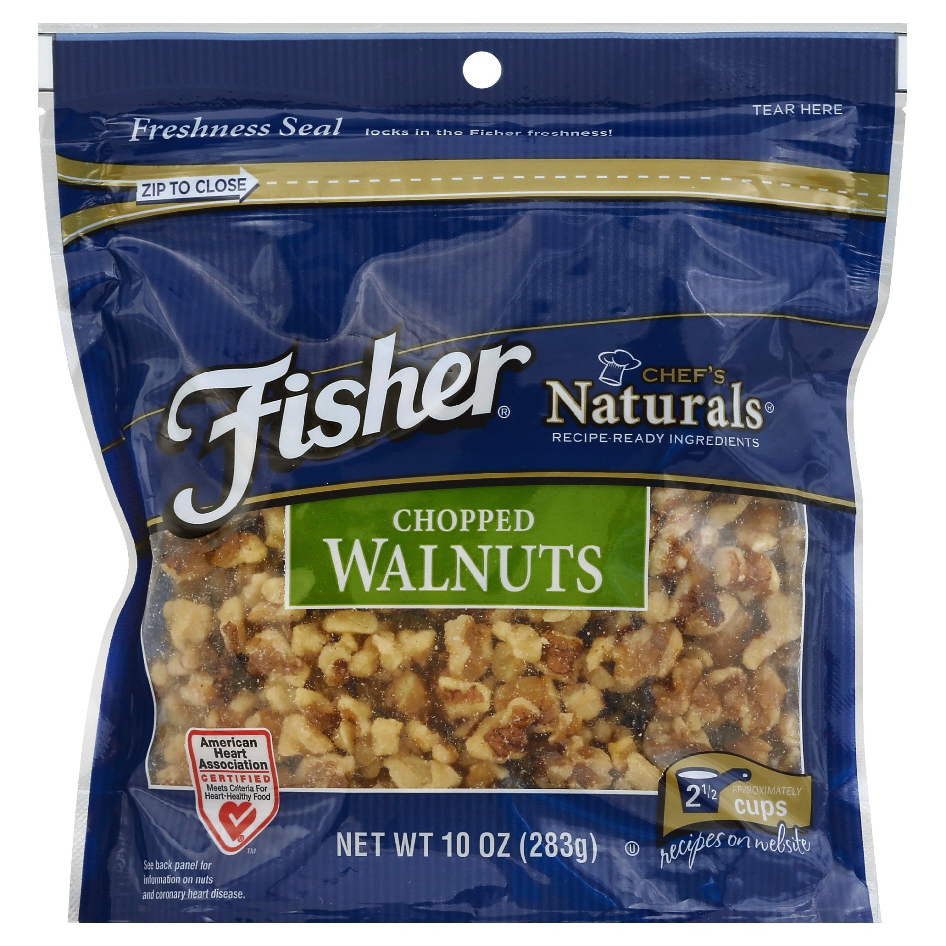 slide 1 of 9, Fisher Chef's Naturals Chopped Walnuts,