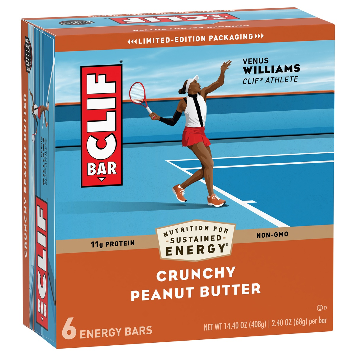 slide 2 of 10, CLIF Bar Crunchy Peanut Butter Energy Bar,