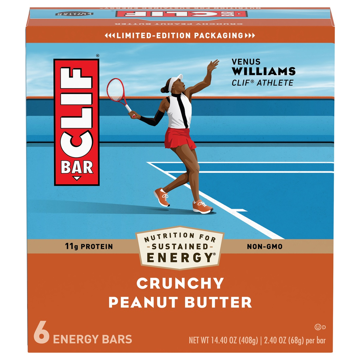 slide 1 of 10, CLIF Bar Crunchy Peanut Butter Energy Bar,