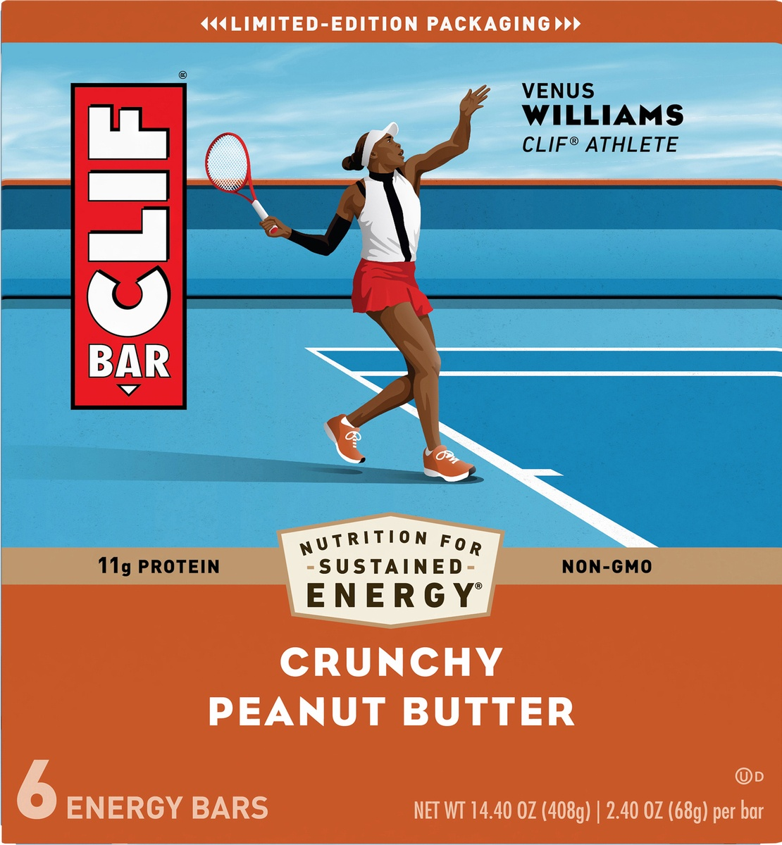 slide 9 of 10, CLIF Bar Crunchy Peanut Butter Energy Bar,