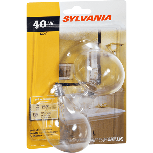 slide 2 of 9, Sylvania Clear Vanity 40 Watt Indoor Light Bulbs,