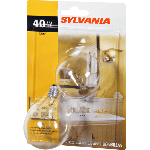slide 3 of 9, Sylvania Clear Vanity 40 Watt Indoor Light Bulbs,