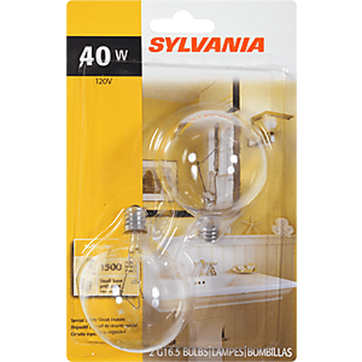slide 4 of 9, Sylvania Clear Vanity 40 Watt Indoor Light Bulbs,