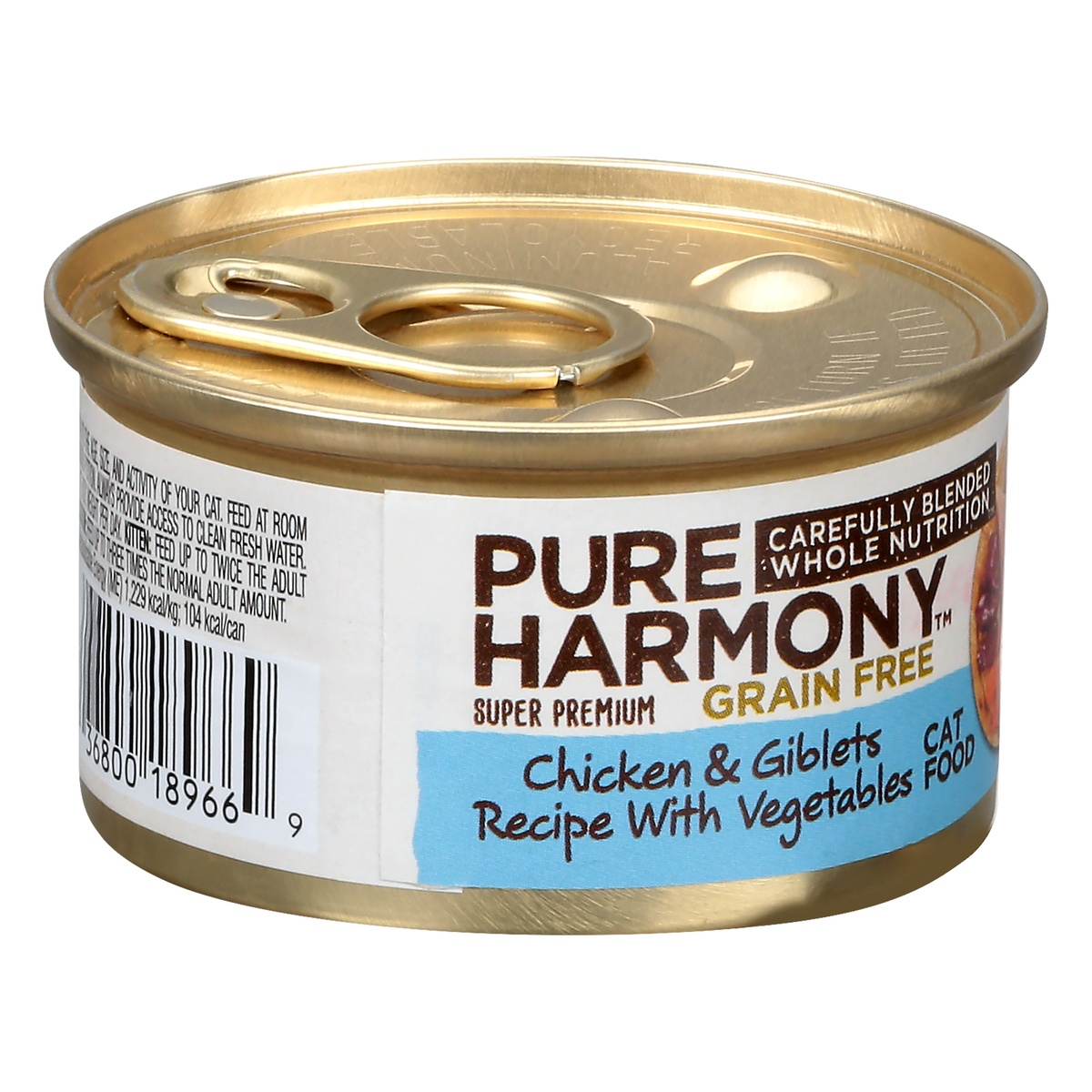 slide 2 of 9, Pure Harmony Super Premium Grain Free Pate Cat Food Chicken Giblets with Vegetables,