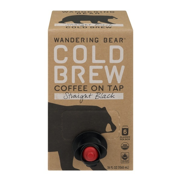 slide 1 of 1, Wandering Bear Straight Black Cold Brew Coffee on Tap,
