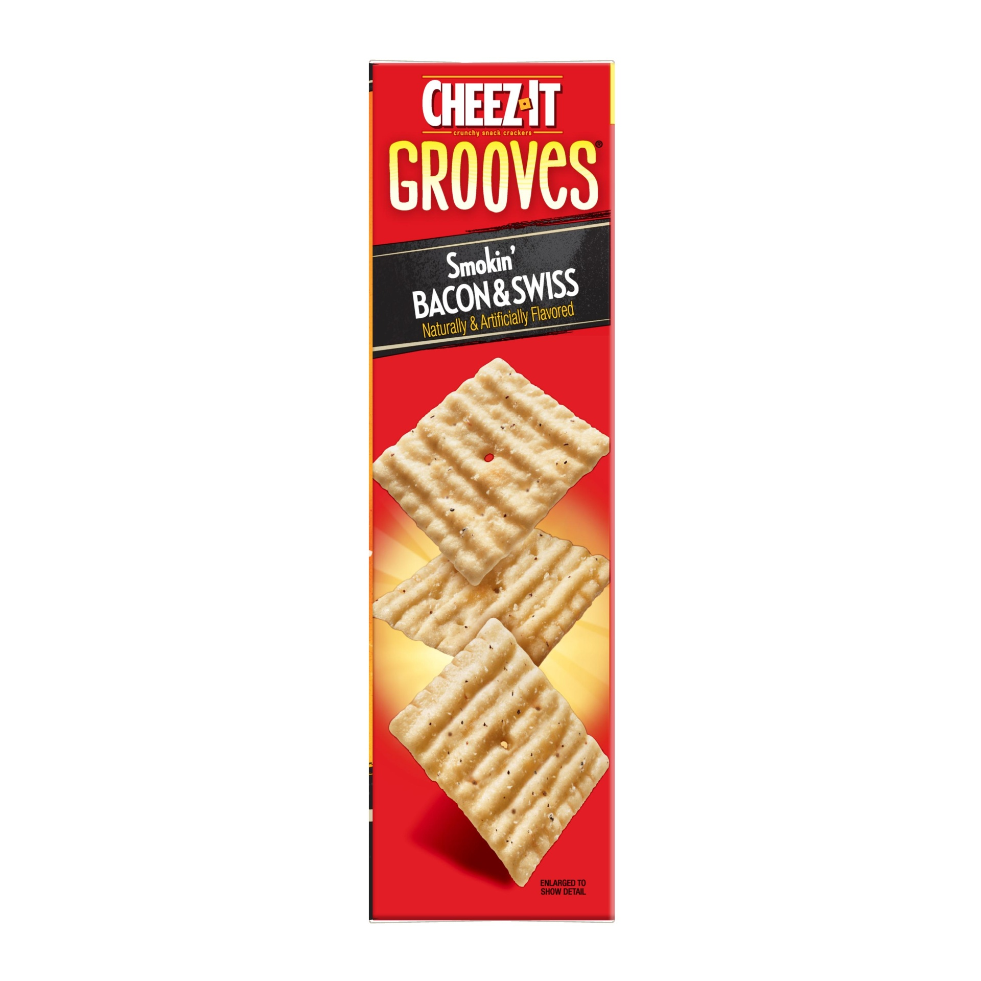 slide 4 of 4, Cheez-It Crunchy Cheese Snack Crackers Smokin' Bacon and Swiss Special Edition,