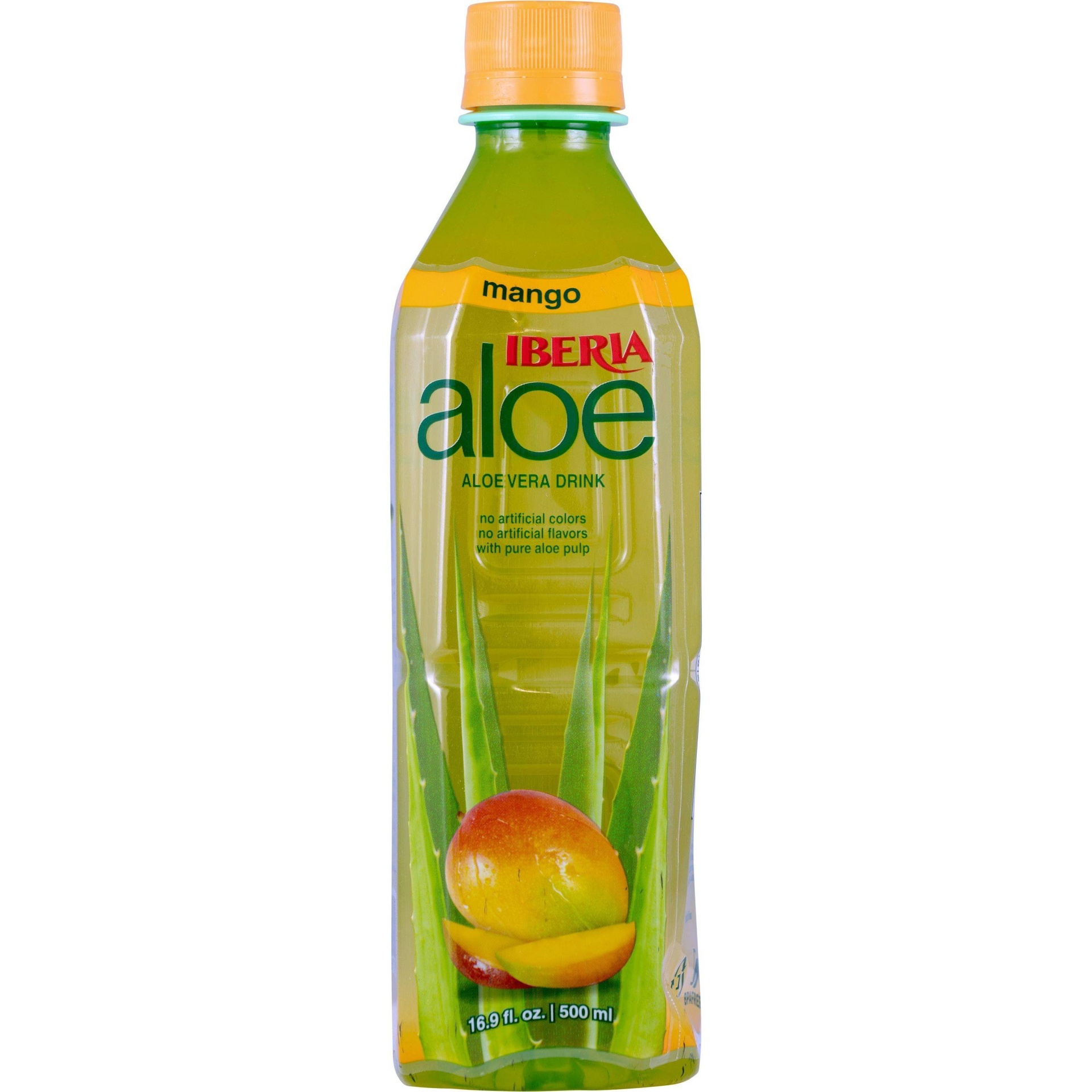 slide 1 of 1, Iberia Mango Aloe Vera Drink,