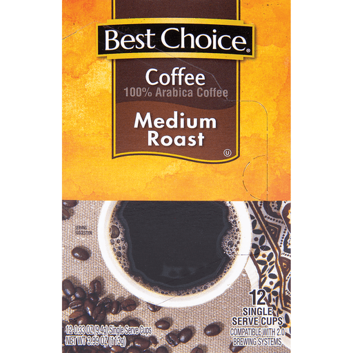 slide 1 of 1, Best Choice Medium Roast Coffee K-Cup,