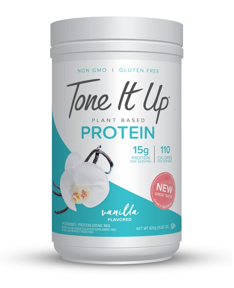 slide 1 of 1, Tone It Up Plant Based Vanilla Protein Powder,