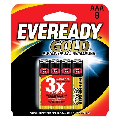 slide 1 of 1, Eveready Gold AAA Batteries,