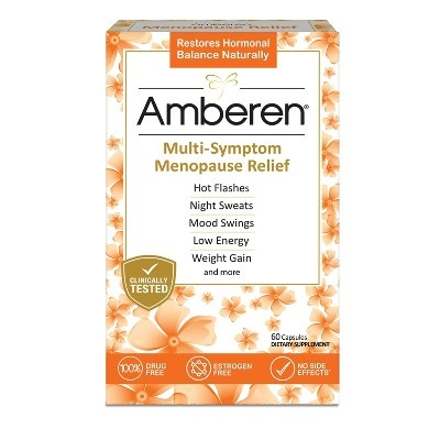 slide 1 of 4, Amberen Menopause Relief Dietary Supplement Capsules,