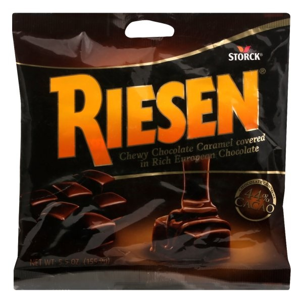 slide 1 of 2, Riesen Chocolate Caramels,