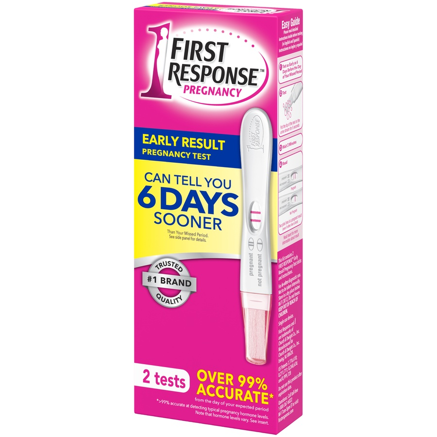 slide 3 of 3, First Response Early Result Pregnancy Test,