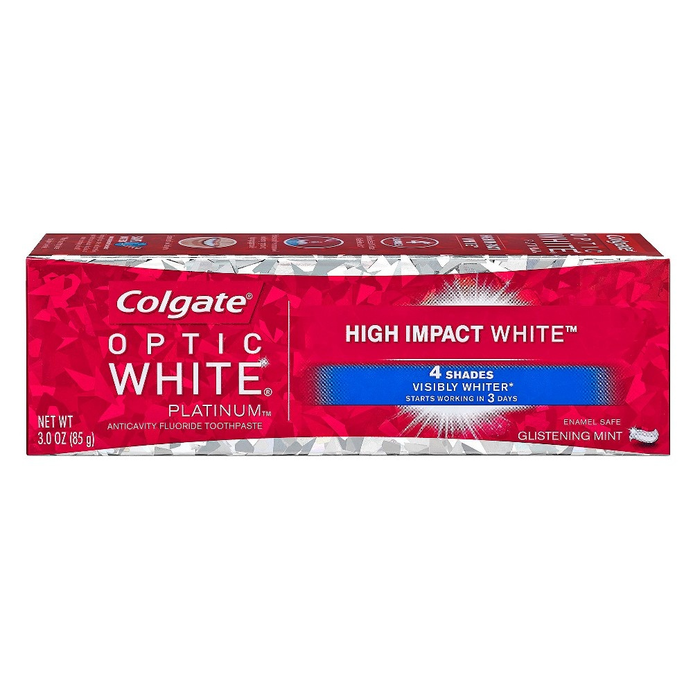 slide 2 of 6, Colgate Optic White Platinum High Impact Toothpaste,