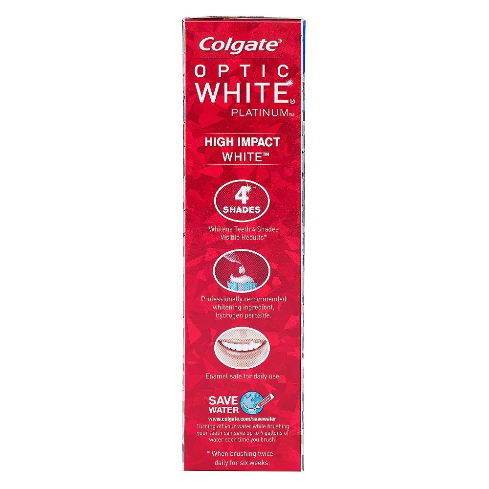 slide 5 of 6, Colgate Optic White Platinum High Impact Toothpaste,