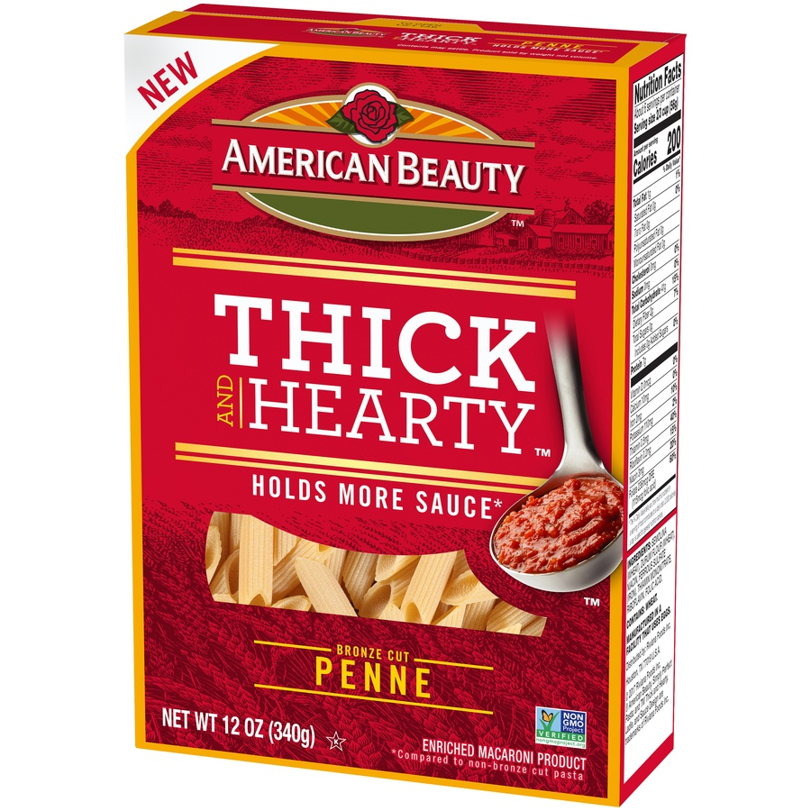 slide 3 of 8, American Beauty Thick And Hearty Penne Pasta,