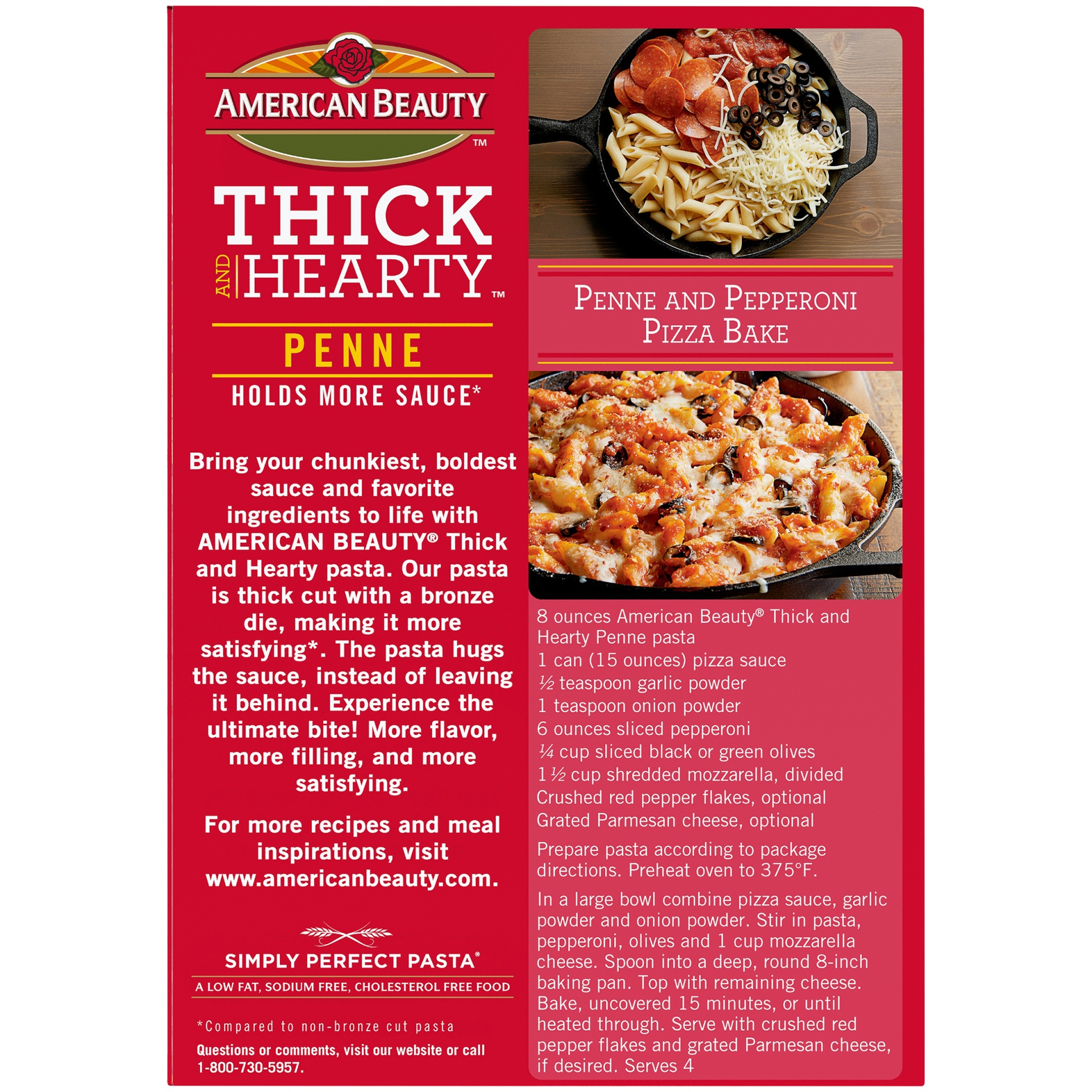 slide 6 of 8, American Beauty Thick And Hearty Penne Pasta,