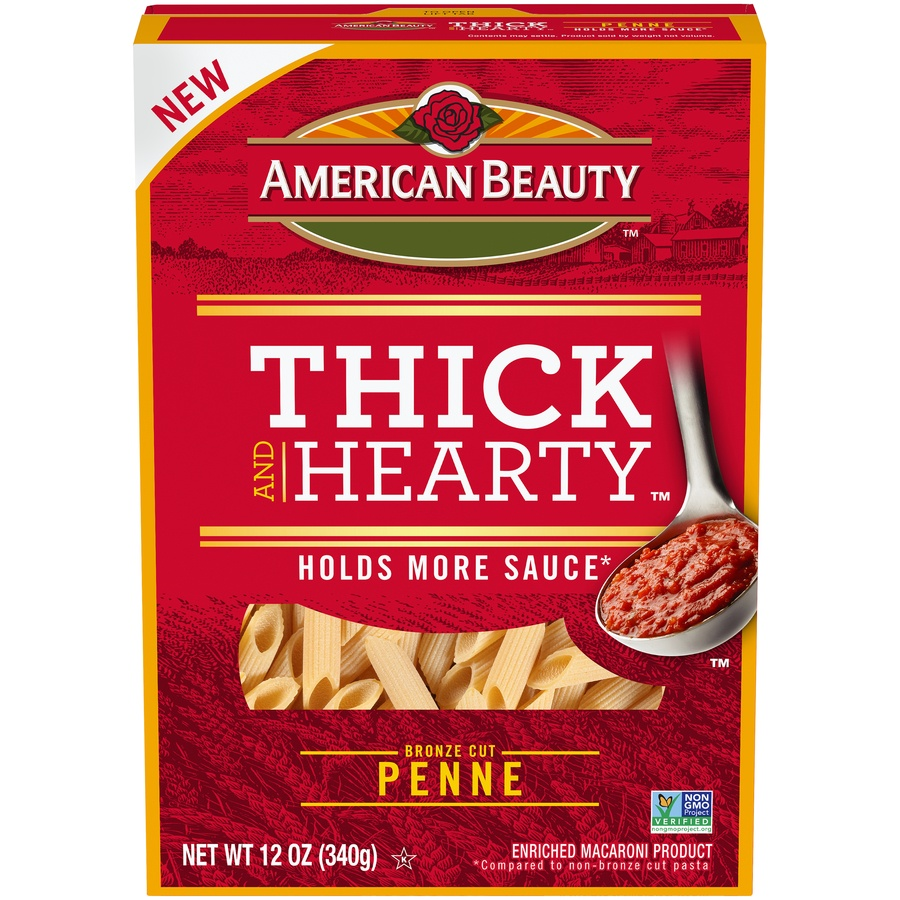 slide 1 of 8, American Beauty Thick And Hearty Penne Pasta,