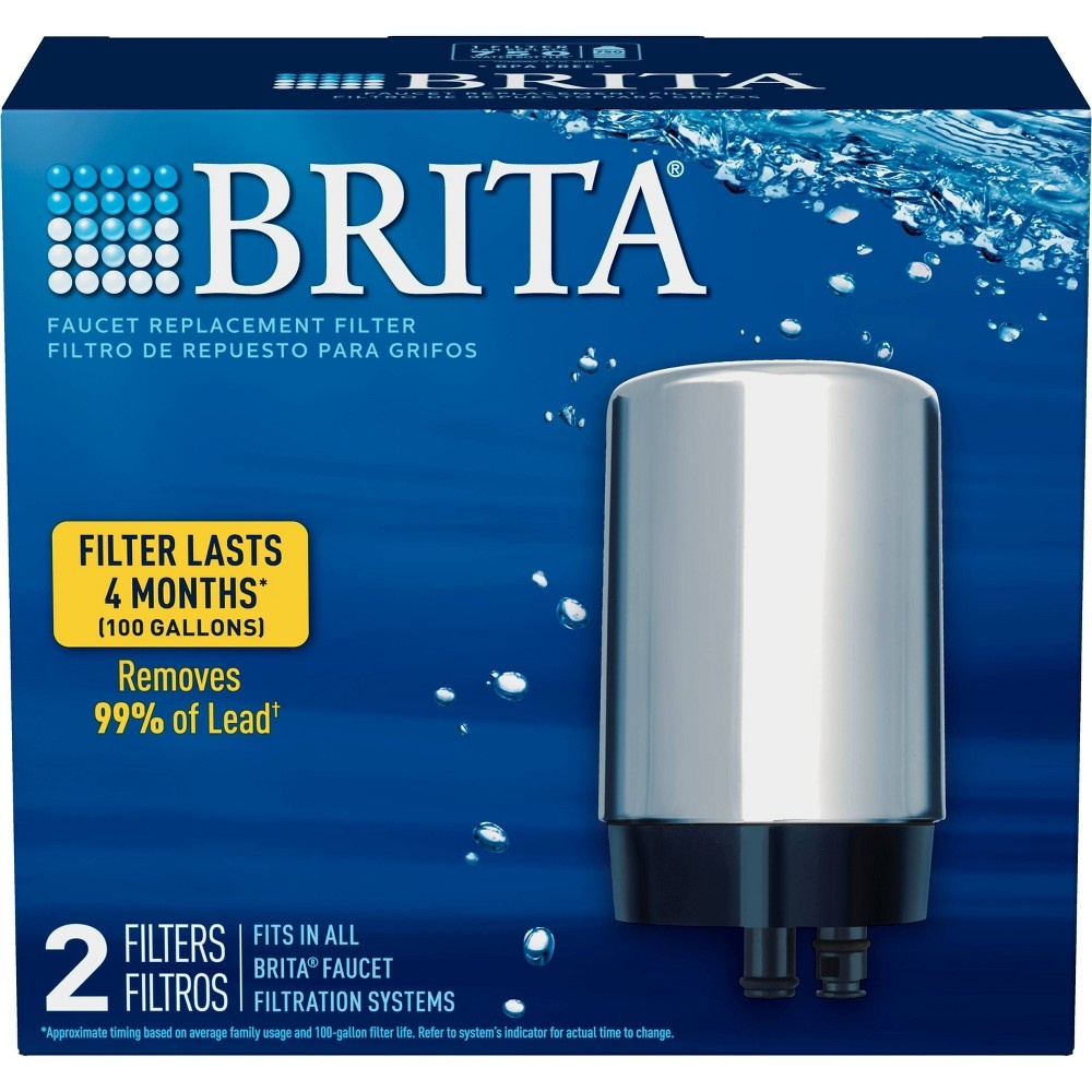 slide 3 of 6, Brita Tap Water Filtration System Replacement Filters For Faucets - Chrome,