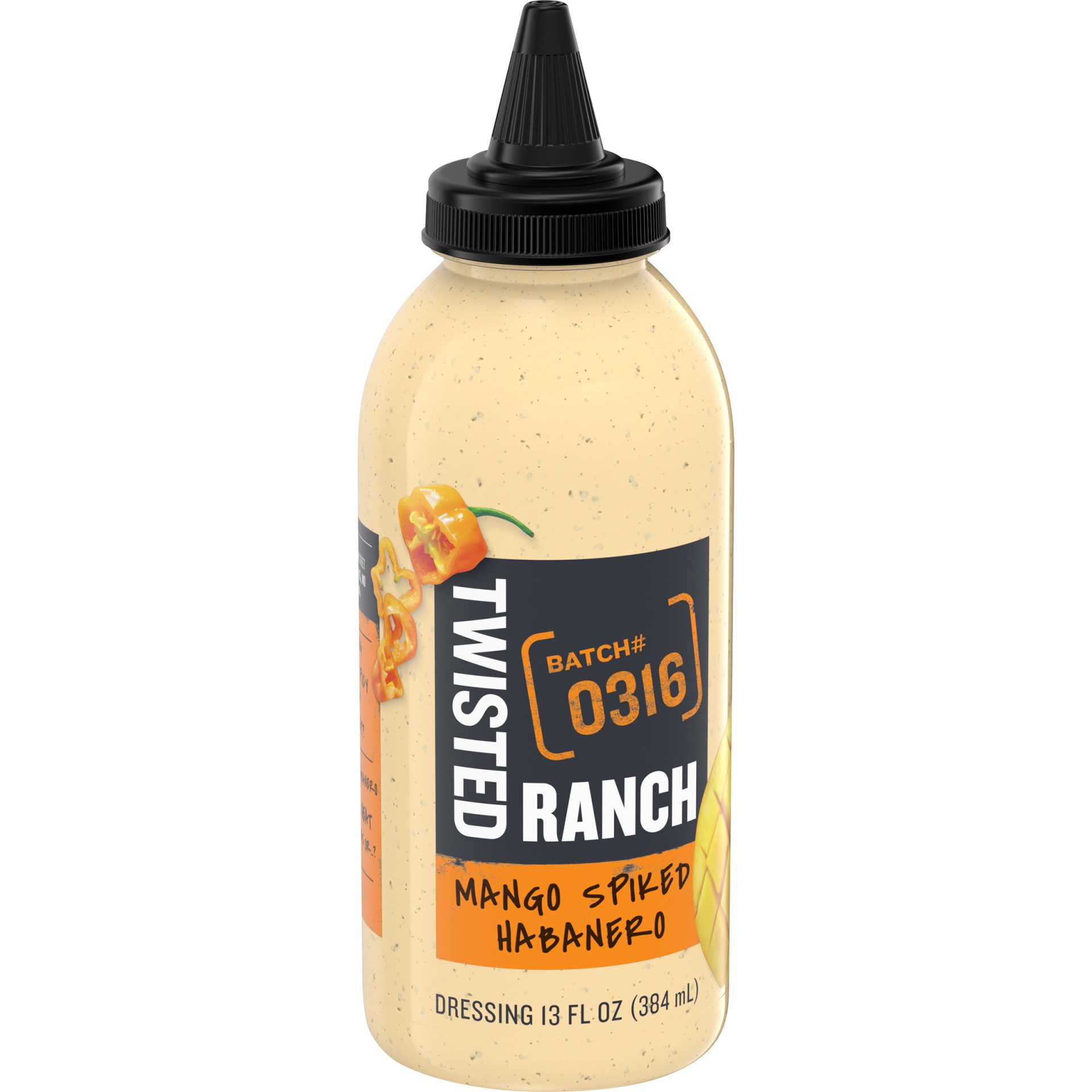 slide 2 of 6, Twisted Ranch Mango Spiked Habanero Dressing,