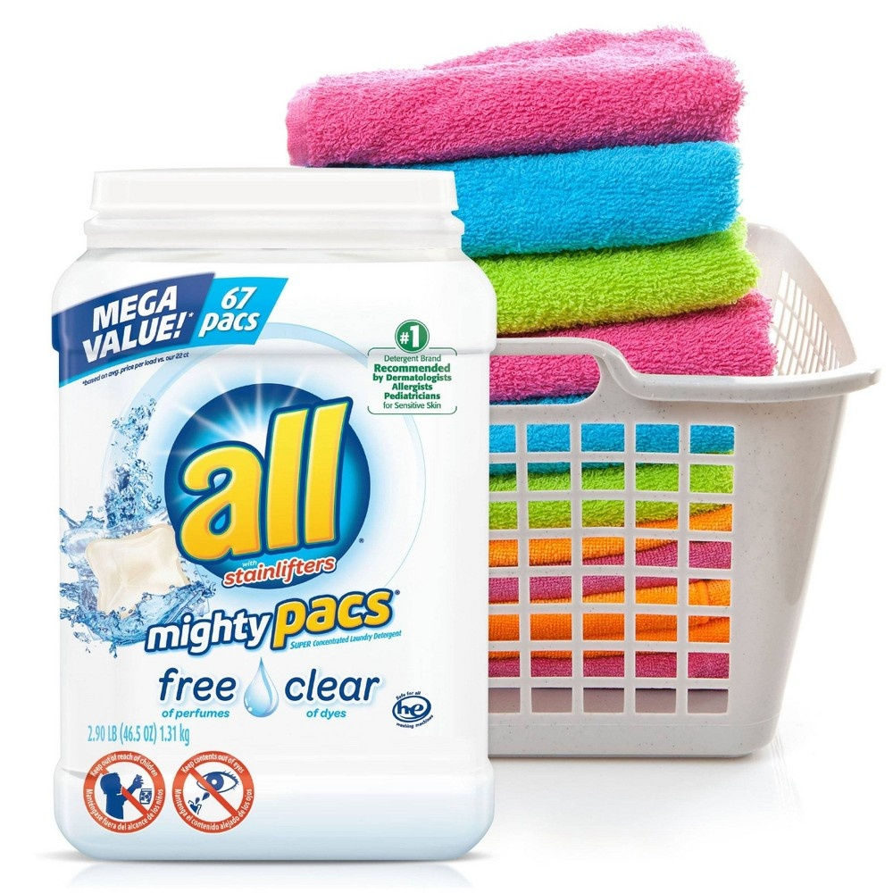 slide 5 of 5, All 4-in-1 Free & Clear with Stain Lifters HE Laundry Detergent Pacs,