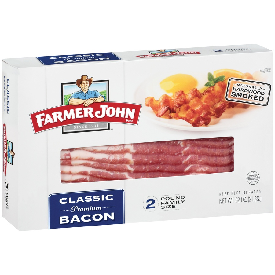 slide 2 of 3, Farmer John Classic Bacon,